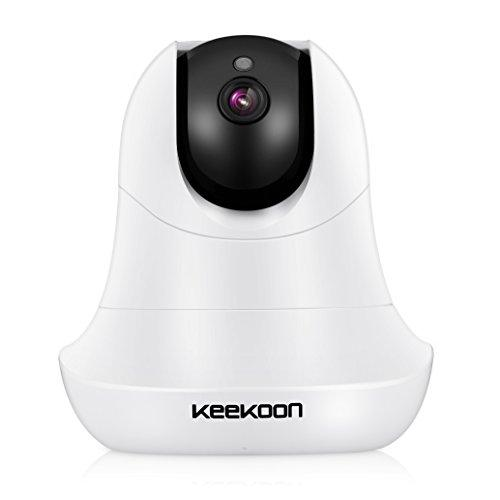 IP Camera,KeeKoon 720P WiFi Home Surveillance Security System Video Recording Baby Pet Senior Monitor Pan Tilt PlugPlay IR Night Vision Two-Way Audio Motion Detect Alert, Indoor, Black …