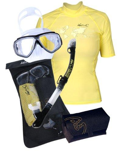 iQ-Company Women by Tusa IQ UV 300 Women's Snorkelling Set M Yellow yellow Size:M