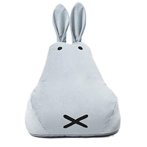 IshowStore Cute Bunny Rabbit Bean Bag Animal Kids Sofa Chair Comfortable Cushion Mini Chair, Birthday Gifts for Toddlers, Child, Baby, Infant Easter Gifts (Light Grey)