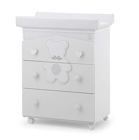 Italbaby 070.7022-0285 Bagnetto 3 Cas.B.Co Fiocco BCO Drawer Chests, Multi Colour