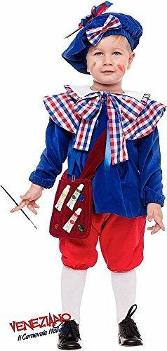 Italian Made 5 Piece Deluxe Baby & Toddler Boys French Artist + Bag Carnival Around the World Book Day Week Fancy Dress Costume Outfit 1-3 years (3 years)