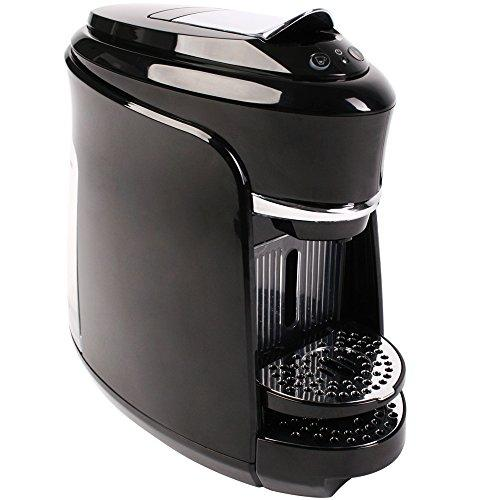 Jago Hot Drinks and Coffee Machine Beverage Maker 1360 W compatible with Nespresso capsules Black