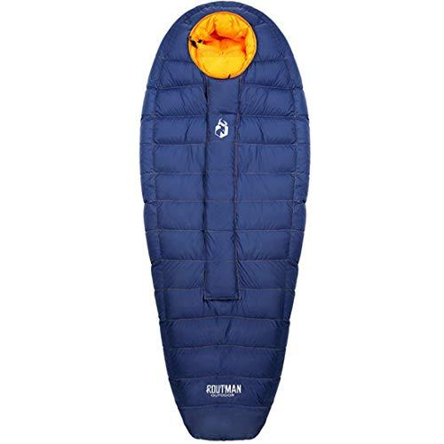 Jakiload Camping Sleeping Bag - 3 Season Warm & Cool Weather - Summer, Spring, Fall, Lightweight, Waterproof for Adults & Kids - Camping Gear Equipment, Traveling, and Outdoors (Color : Blue02)