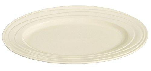 "Jamie Oliver Waves Large 40cm/16"" Oval Serving Platter Fine Off White Porcelain Ceramic Modern & Ultra Contemporary Tableware Roast Beef/Chicken/Turkey Serving Dish/Plate Dishwasher & Microwave Safe"