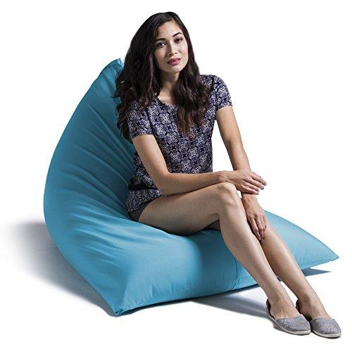 Jaxx Outdoor Bean Bag Chair, Solid, Lagoon Blue