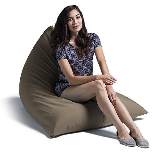 Jaxx Outdoor Bean Bag Chair, Solid, Taupe