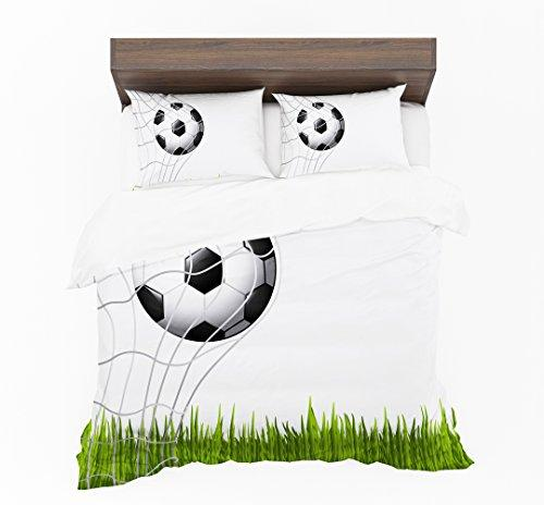 Jennifer Davidson Football Goal 3D New Design Digital Print Duvet Cover By UK Made (Double)