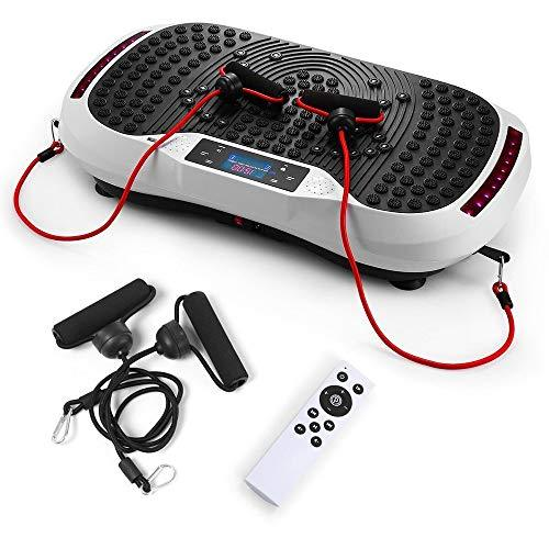 JERKEY Whole Body Vibration Machine Fitness Vibration Platform with Remote Control Platform Oscillation Bluetooth Speakers Ultimate Fat Loss Unique Design,Black