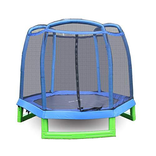 Jiasj Kids trampoline Indoor Outdoor Trampoline Galvanized Steel with Skirt and Safety Net, Diameter 140cm Weight Capacity 100kg,210cm