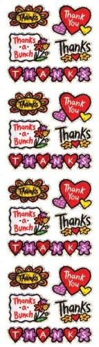 Jillson Roberts Prismatic Stickers, Thank You, 12-Sheet Count (S7283)