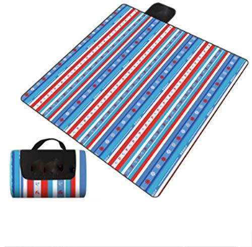 JKLL Extra Large Waterproof Picnic Blanket Soft Warm Fleece Lawn Blanket Tote Dual Layers Camping Tote Mat Portable Family Size Handy Mat