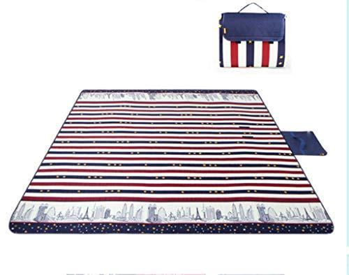 JKLL Outdoor Beach Blanket 3 Layers Thickened XL Waterproof Picnic Mat Ground Cover - Multipurpose Outdoor/Indoor Blanket for Camping, Hiking, Festival, Park, Baby, Pet (6-8 Person)
