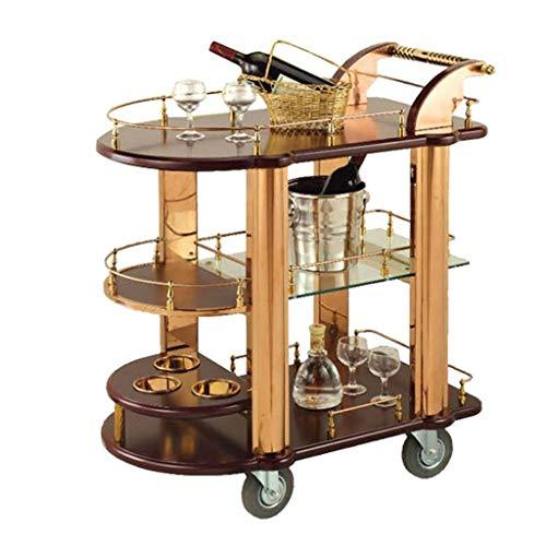 JOLLY Beautiful Kitchen Trolley Island Dining Cart Worktop Basket Storage Organiser With Lockable Wheels