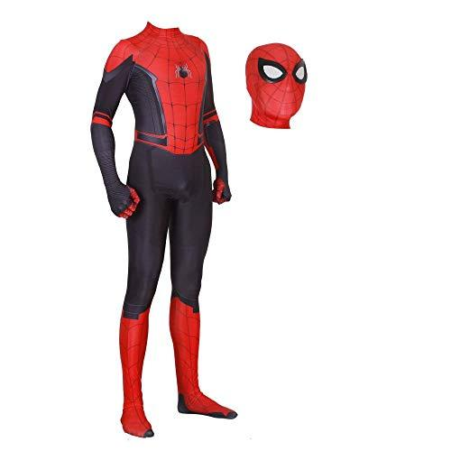 JUFENG NEW Adult Kids Spider-Man 2019 Halloween Costume Jumpsuit 3D Print Spandex Lycra Spiderman - Cosplay Costume Bodysuit,C-adult/M