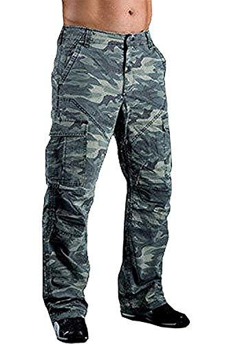 Juicy Trendz Men's Motorcycle Motorbike Trousers Pants Jeans with Protective Lining S016 Camo W40 x L32