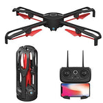 Jujuism Remote Control Foldable GPS Drones with 1080P 5MP HD Camera 5G FPV Live Video Mobile APP Control RC Quadcopter Helicopter Aircraft - Return Home Altitude Hold Follow Me Electric Fence