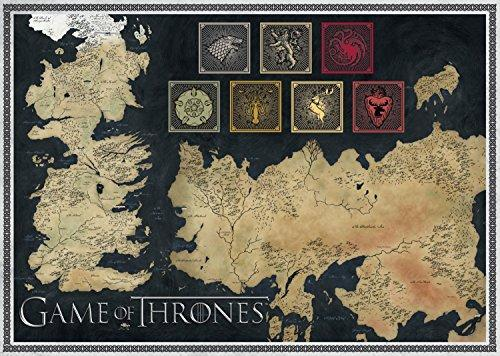 Jumbo Games Game Of Thrones Map Of The Known World Jigsaw Puzzle 1000 Pieces