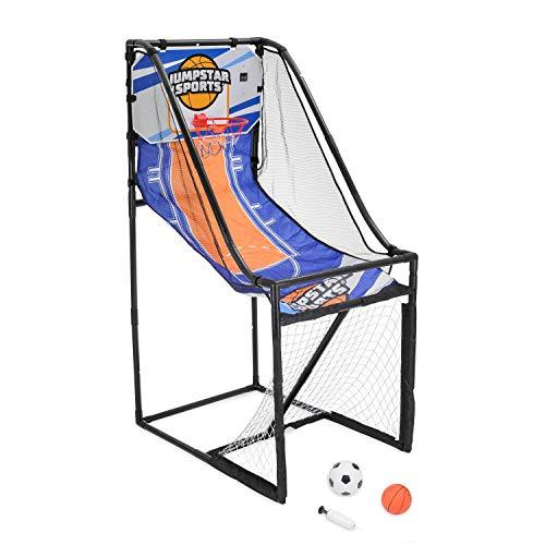 JumpStar Sports Basketball Hoop Football Goal Kids 2 In 1 Indoor Outdoor Game