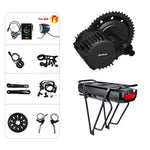 Junstar Bafang BBSHD 1000W Mid Drive Kit Ebike Motor With LCD Display 8fun 48V Mid Motor Electric Bike Conversion Kits With Rear Rack Battery And Charger