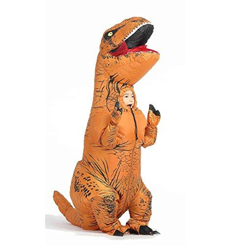 JYZCOS Inflatable T-Rex Dinosaur Costumes for Kids Boys Girls Halloween Purim Fancy Dress