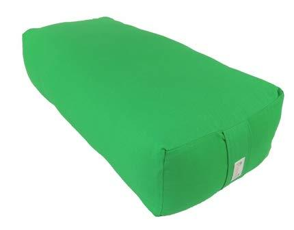 Kakaos Supportive Rectangular Cotton Yoga Bolster (Emerald Green)