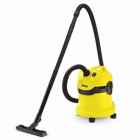 Karcher 16297630 MV2 Wet & Dry Vacuum Cleaner 1200 watts Energy use: 1000W Vacuum (mbar): 200 Air flow rate (Vs): 50 12 Litre capacity - Yellow