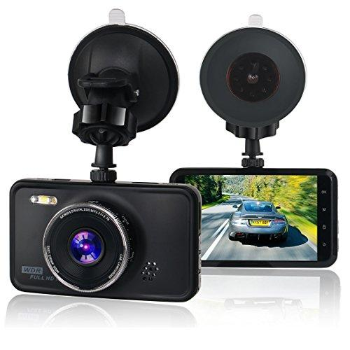 KASSADIN Dash Cam, 1080P Full HD Car Camera DVR Dashboard Camera Video Recorder 3 inch LCD Display 6G Lens with WDR, Loop Recording, G-sensor, Motion Detection, 3-Lane Wide Angle with LED Fill Light