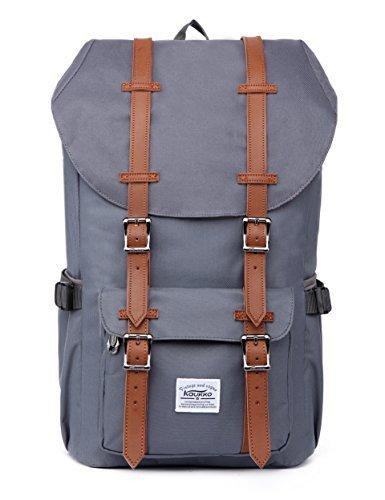 "KAUKKO Laptop Outdoor Backpack, Travel Hiking& Camping Rucksack Pack, Casual Large College School Daypack, Shoulder Book Bags Back Fits 15"" Laptop & Tablets"