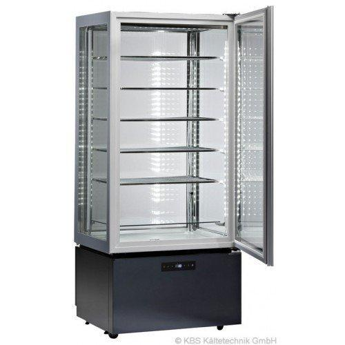 KBS Freezer Pan Luxor Exclusively Vierseitig Glazed Display Cabinet with 5 Glass Shelves