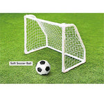 "[KEMOEM] Mini soccer goal Post Net 19.6"" X 26"" & Soft Soccer Ball Soccer For Kids Outdoor Football Match Training Equipment"