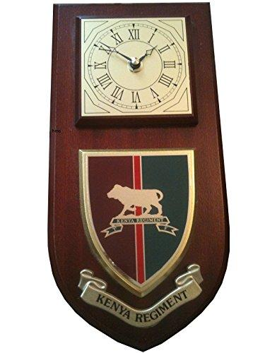 Kenya Regiment Military Wall Plaque & Clock