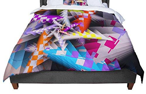 "Kess InHouse Michael Sussna Sticker Thicket Multicolor Cal King Comforter, 104"" x 88"""