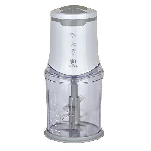 Ketuo mini chopper food processor Electric 550W, 6 stainless steel blades, 2 speed, Turbo button 1L plastic Bowl