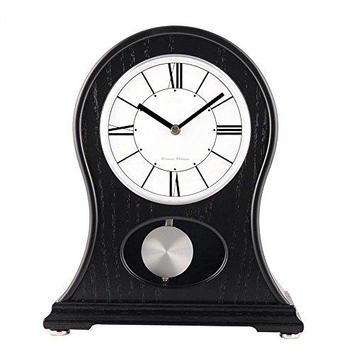 KHSKX Clocks authentic Japanese garden English oak desk clock quartz clock the living room wooden shell Japanese clock
