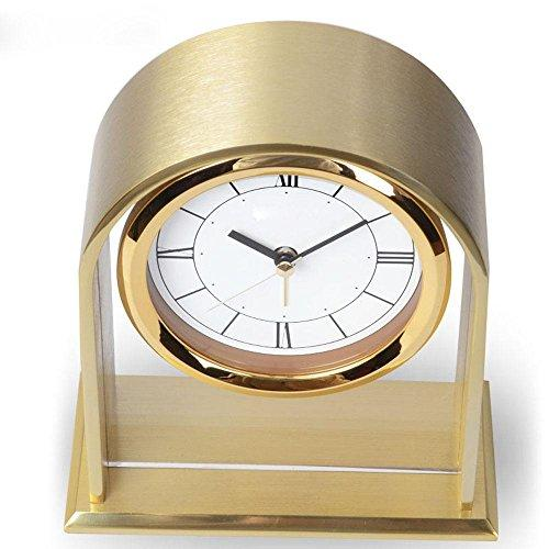 KHSKX Living room bedroom Office modern aluminum clocks metal alarm clock desk clock