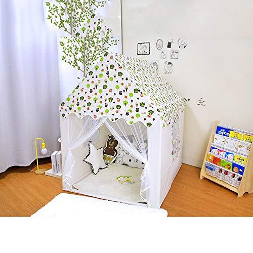 Kibten Trees Forest Pattern Girl Princess Castle Tent Kids Children Play Tent Indoor Outdoor Garden Child Teepee Game House Toy Room Reading Corner Photography Prop for Baby Toddlers