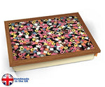KICO Licorice Allsorts Sweets Candy Cushioned Bean Bag Breakfast Bed Lap Tray Desk - Wood Effect Frame