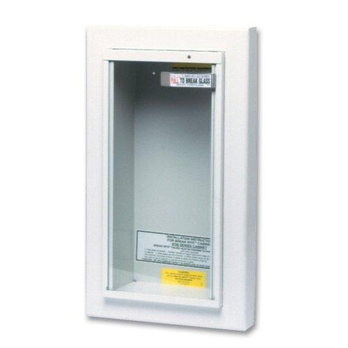 Kidde 468044 Potter Roemer Semi-Recessed 5-Pound Fire Extinguisher Cabinet by Kidde