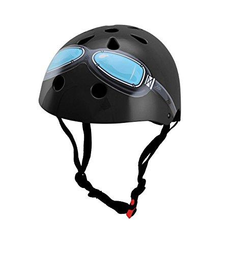 Kiddimoto KMH044S Kinder Google Helmet, Black, Small
