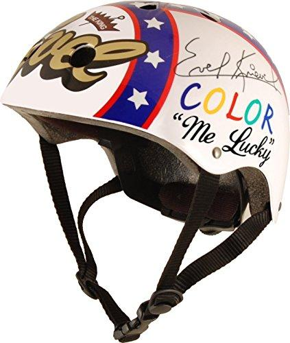 Kiddimoto Men's Medium Hero Kinder Evel Knievel Helmet, Multicoloured, 53-58cm cm
