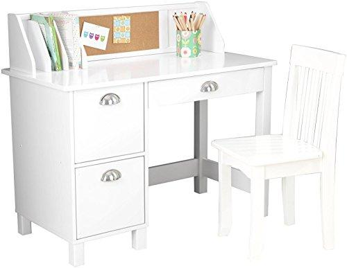 "KidKraft 26704 Study Desk with Chair white 39.25"" x 21.25"" x 10"""