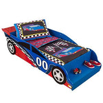 KidKraft 76038 Racecar Kids, Toddler, Children's Bed - bedroom furniture junior wooden bed frame