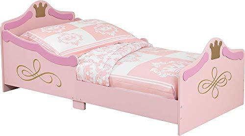 KidKraft 76139 Princess Kids, Toddler, Children's Bed - bedroom furniture junior wooden bed frame