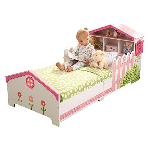 KidKraft 76255 Dolls house Kids, Toddler, Children's Bed, bedroom furniture junior wooden bed frame