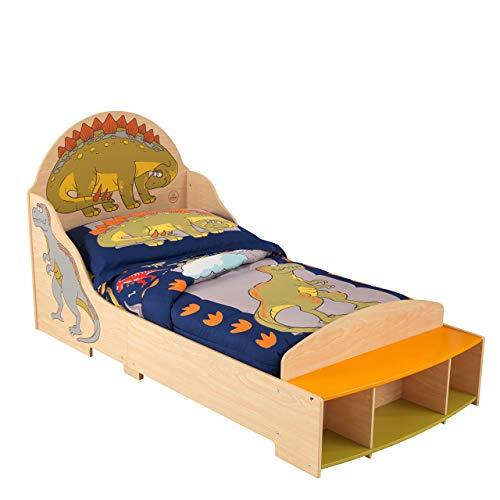 KidKraft 86938 Dinosaur Kids, Toddler, Children's Bed, bedroom furniture junior wooden bed frame