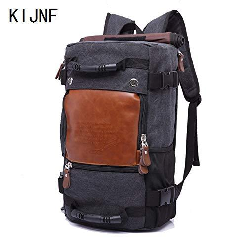 KIDNNE Backpack Travel Large Capacity Backpack Male Luggage Shoulder Bag Computer Backpacking Men Functional Versatile Bags,Q