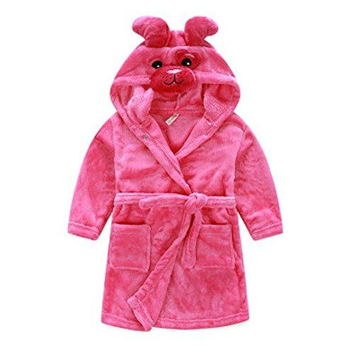 Kids Cartoon Cute Hooded Robe Supersoft Nightwear Wram Bathrobes ( Dog )