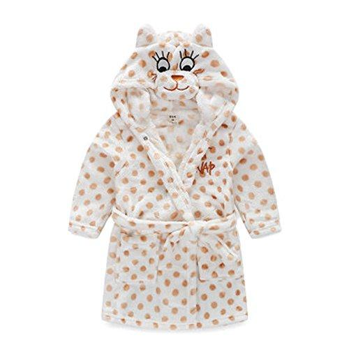 Kids Cartoon Cute Hooded Robe Supersoft Nightwear Wram Bathrobes ( Yellow )