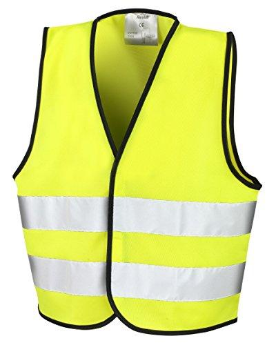 KIDS CHILDREN HI VIS VEST HIGH VISIBILITY WAISTCOAT INFANTS SAFETY WORK WEAR 20 Pack Hi Vis Yellow 4-6 Years