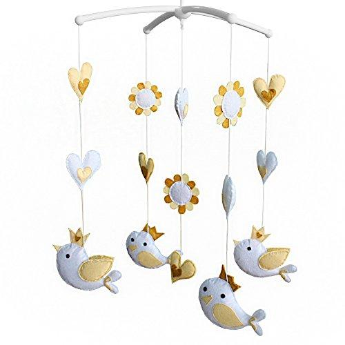 Kids' Crib Toy Unisex Baby Crib Rotatable Musical Mobile [Flying Birds]